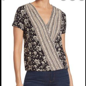 New lucky brand back and beige cross top